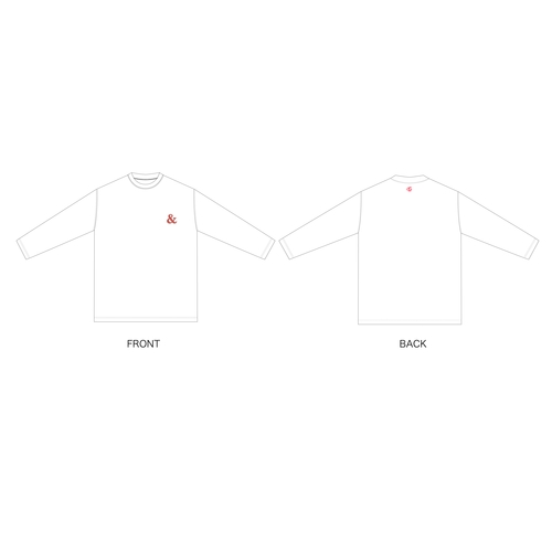 TWICE JAPAN 2nd ALBUM 『&TWICE』RELEASE EVENT &TWICEロングTシャツ/WHITE