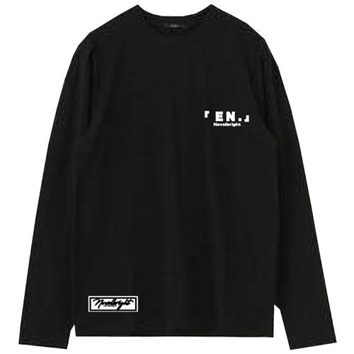 「EN.」LOGO  LONG T-SHIRT/ブラック