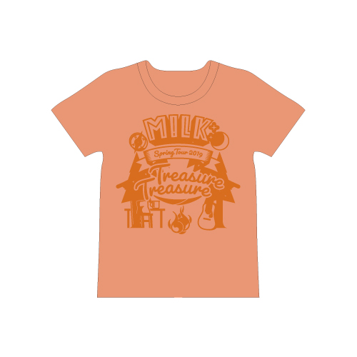 [M!LK]Treasure Treasure T-shirt【橙】