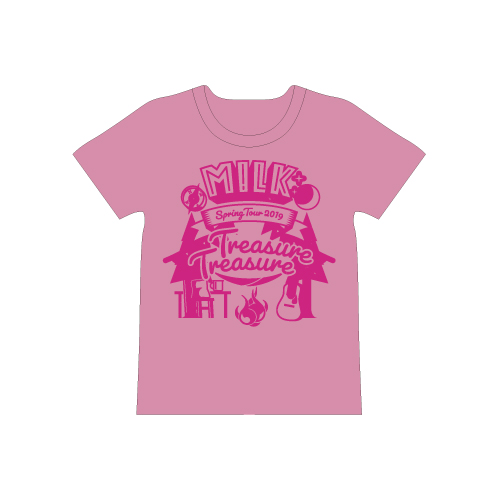 [M!LK]Treasure Treasure T-shirt【桃】