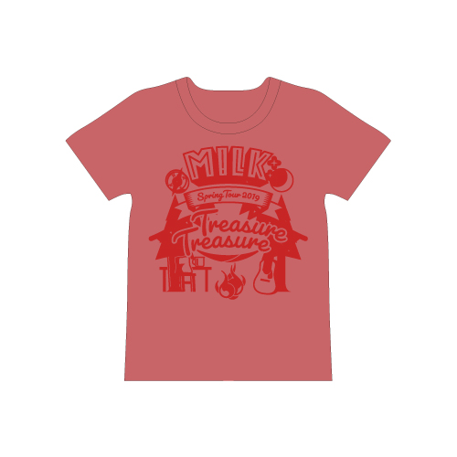 [M!LK]Treasure Treasure T-shirt【赤】