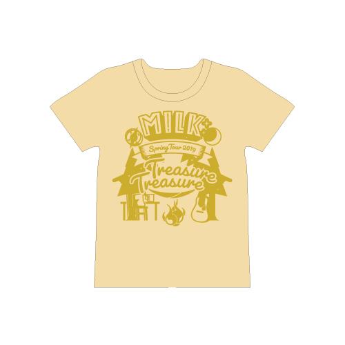 [M!LK]Treasure Treasure T-shirt【黄】