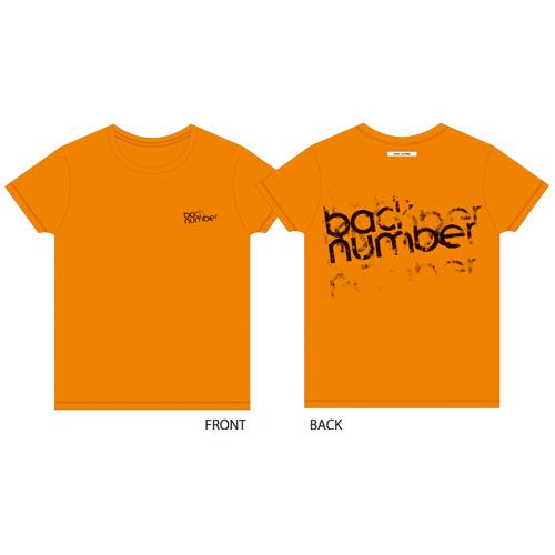 グランジロゴTシャツ/オレンジ