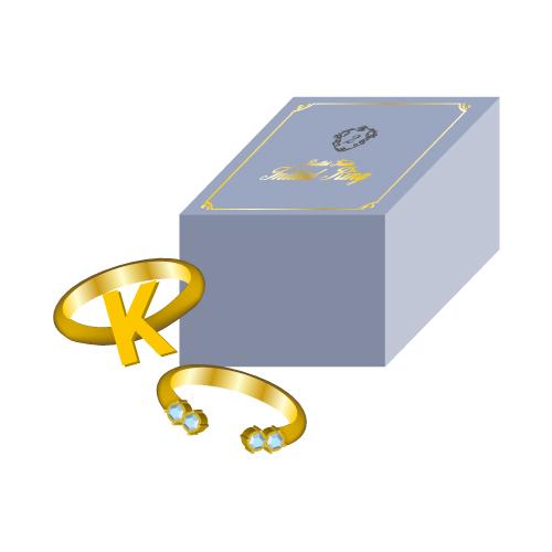 [超特急]【FC会員通販限定】Initial Ring(K/青)