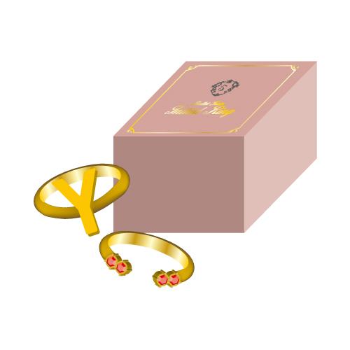[超特急]【FC会員通販限定】Initial Ring(Y/赤)