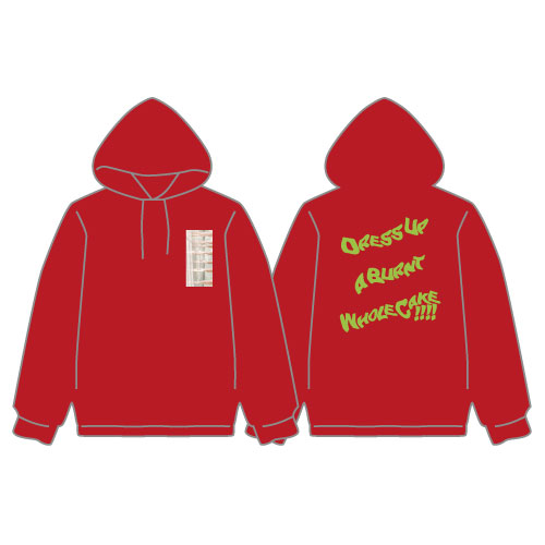 [DISH//]Dress Up a Burnt Whole Cake !!!! Pullover【Red】