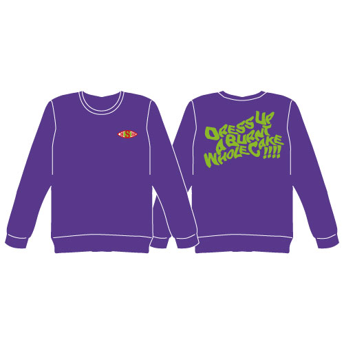 [DISH//]Dress Up a Burnt Whole Cake !!!! Long Sleeve Tshirt【Purple】