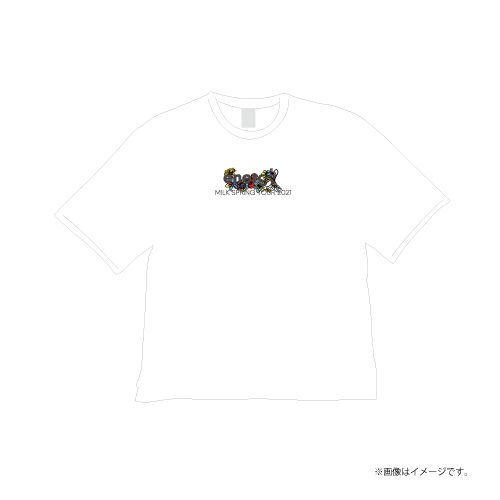 [M!LK]energy T-shirts【White】