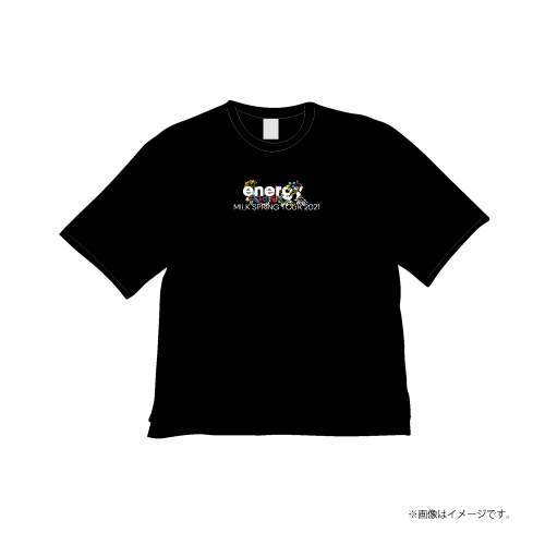[M!LK]energy T-shirts【Black】