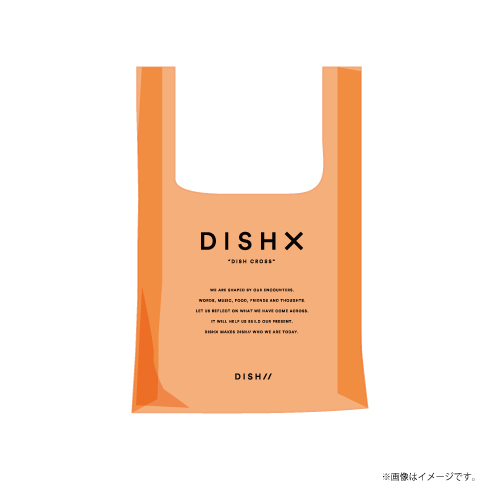 [DISH//]DISH X PVC Clear Eco Bag【Clear Orange】