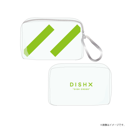 [DISH//]DISH X PVC Clear Mini Pouch【Clear】