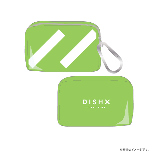 [DISH//]DISH X PVC Clear Mini Pouch【Clear Green】