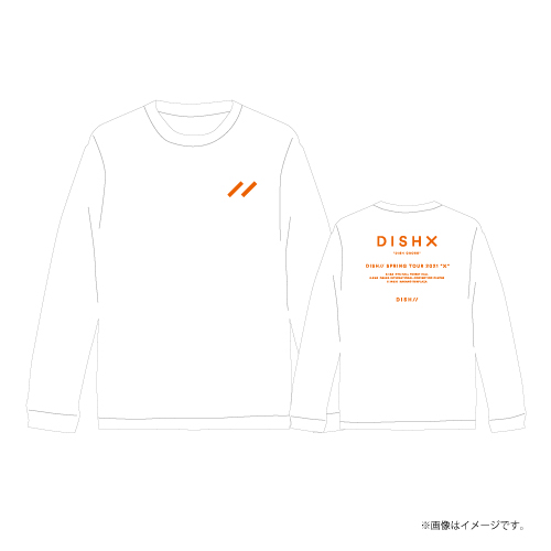 [DISH//]DISH X Longsleeve Tour T-shirts【White】