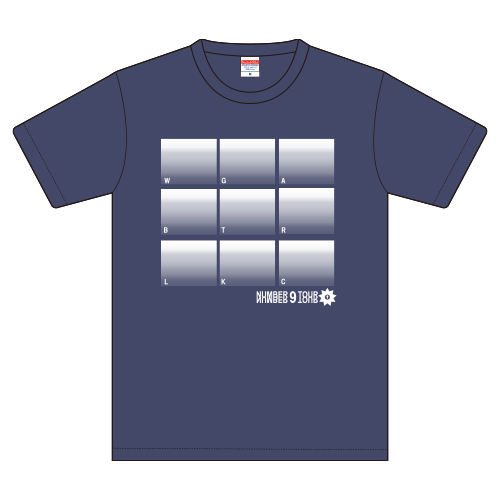 [SUPER★DRAGON]NUMBER 9 Tshirt(Indigo)