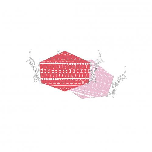 [超特急]超特急とStand up BT Cool Mask(※クール素材使用!2枚セット!)【赤】