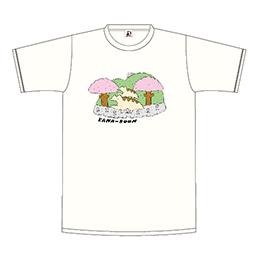 レンちゃん親子の春さんぽTシャツ/バニラホワイト