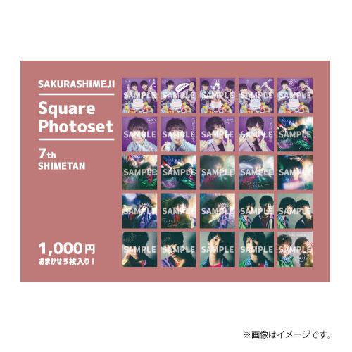 [さくらしめじ]SAKURASHIMEJI  Square Photoset〜7th SHIMETAN〜(おまかせ5枚入り)
