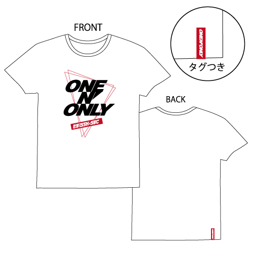 [ONE N' ONLY]ONE N' ONLY Tシャツ#001【ホワイト】
