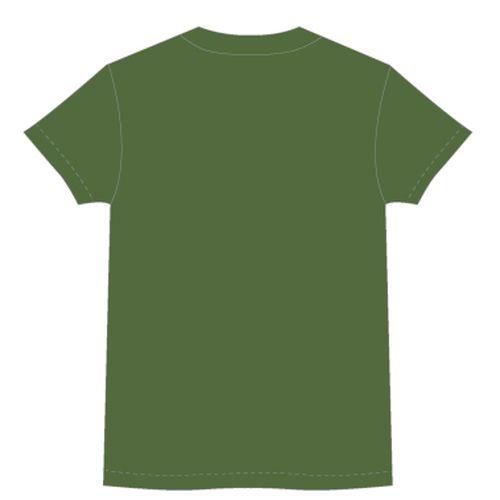 【BURNOUT SYNDROMES】LOGO2020 ビッグシルエット刺繍Tシャツ/ダークグリーン