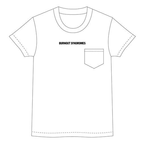 【BURNOUT SYNDROMES】LOGO2020 ビッグシルエット刺繍Tシャツ/ホワイト