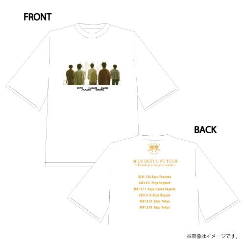 [M!LK]M!LK BEST L!VE TOUR T-shirts 【White】