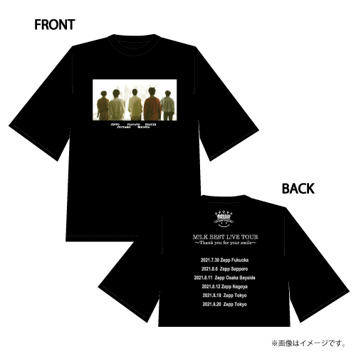 [M!LK]M!LK BEST L!VE TOUR T-shirts【Black】