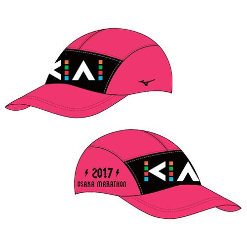 OSAKA MARATHON 2017 TEAM KIAI 応援キャップ