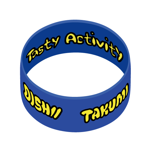 [DISH//]Tasty Activity Rubber Band(Blue×Yellow)