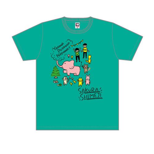 [さくらしめじ]野音でわいわい大集合Tシャツ(しめじいろ)