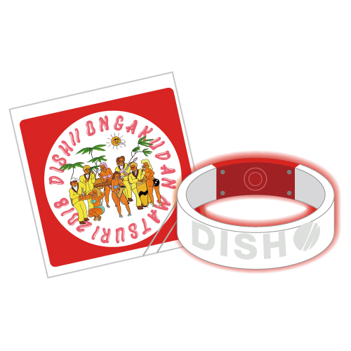 [DISH//]ONGAKUDAN MATSURI2018 Light Bangle(RED)