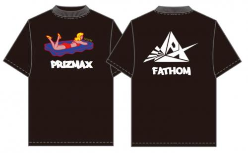 [PrizmaX]FATHOM×PrizmaX コラボレーションTシャツ【ブラック】