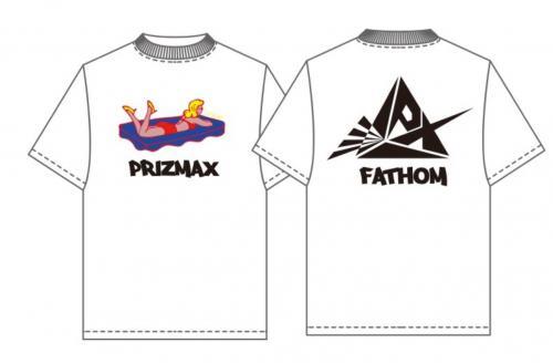 [PrizmaX]FATHOM×PrizmaX コラボレーションTシャツ【ホワイト】