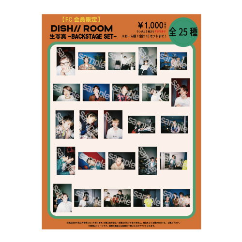 [DISH//]【FC会員限定】DISH// ROOM 生写真-BACKSTAGE SET-