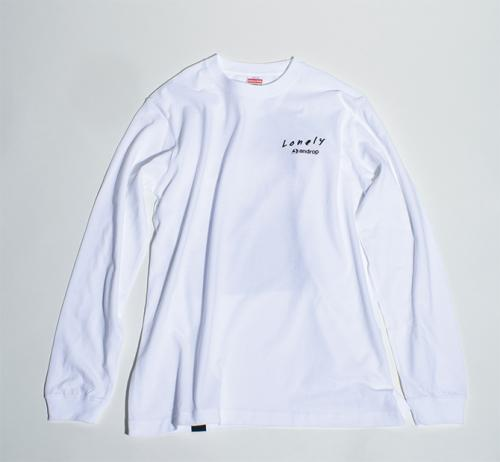 Long Sleeve T shirt・Lonely_Beautiful Beautiful【White】