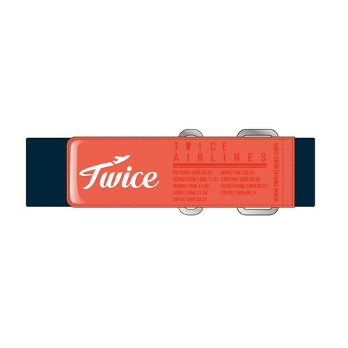 """TWICE JAPAN SEASON'S GREETINGS 2019 """"TWICE AIRLINES"""" SPECIAL GOODS キャリーベルト"""