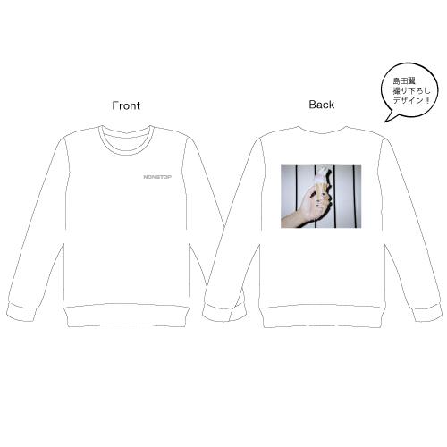 [PrizmaX]Nonstop ロングスリーブTシャツ【ホワイト】