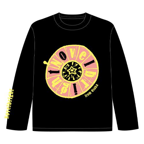 ロングTシャツ/ブラック