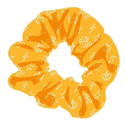 [M!LK]白黒牛乳ワールド シュシュ【橙】