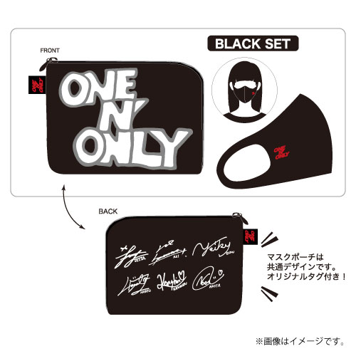 [ONE N' ONLY]ONE N' ONLY マスク&マスクポーチセット【BLACK SET】