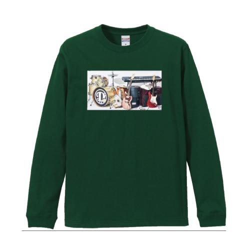 [DISH//]LIVE TOUR DISH//  Long sleeve Tour T-shirt【green】