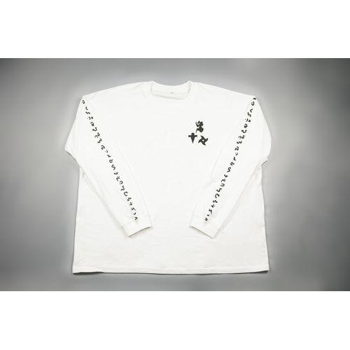 【-真天地開闢集団-ジグザグ】参拝装束<定番> (ロングTシャツ)【白】
