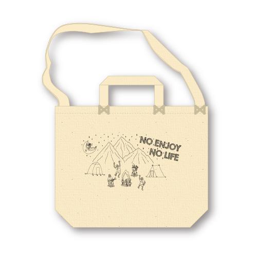 キャンバス2wayバッグ -No Enjoy No Life- designed by のすけ