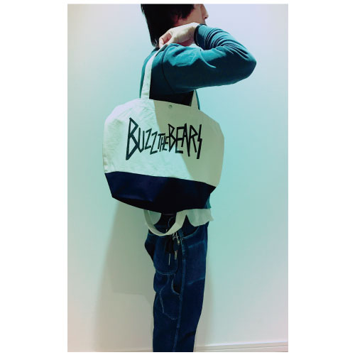Official Tote Bag/White×Navy