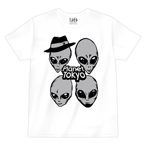 【ウソツキ】エイリアンTシャツ(ホワイト)