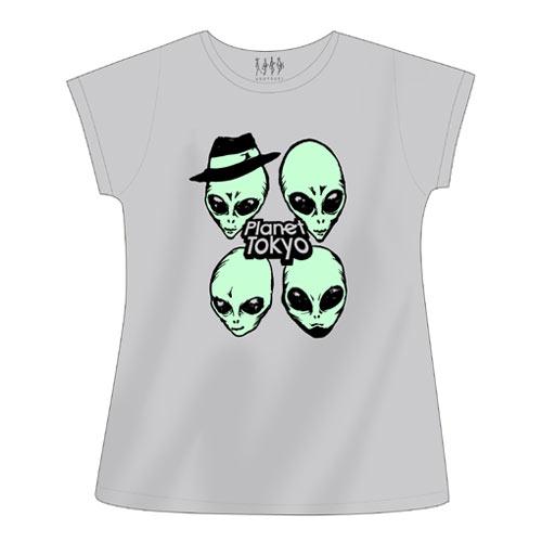 【ウソツキ】エイリアンワンピTシャツ(グレー)
