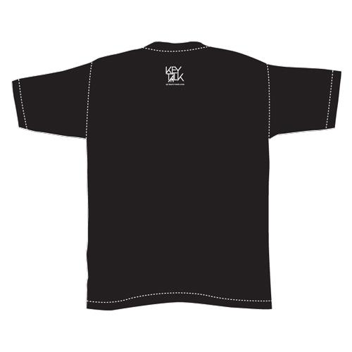 曲名刺繍Tシャツ・2016年3位「桜の風吹く街で」/ブラック