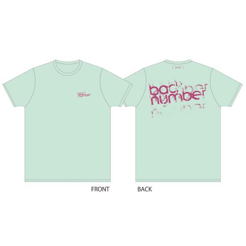グランジロゴTシャツ/ライトブルー