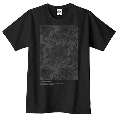 バラ色 Tシャツ(Black)