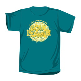 """""""SOUL POWER 2018""""Tシャツ(ピーコックグリーン)"""