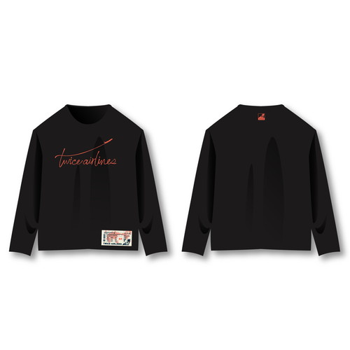 "TWICE JAPAN SEASON'S GREETINGS 2019 ""TWICE AIRLINES"" SPECIAL GOODS ロングTシャツ"